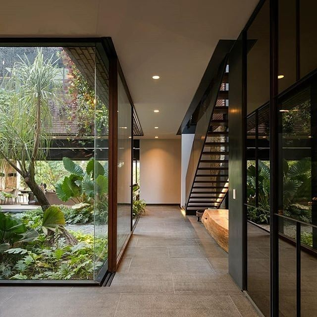 modern open space with nature surround