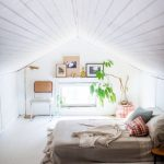 Soak Light Attic Bedroom Idea With Floor Bed Chair Greenery