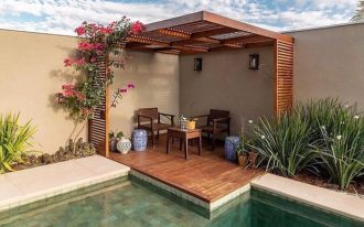 fabulous patio with modern screening wood outdoor furniture antique ceramic stuffs