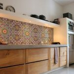 Multicolored Backsplash With Layers Of Patterns