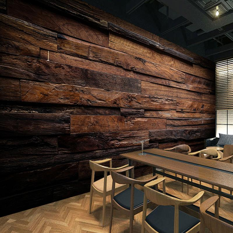 rustic wood wallpaper idea