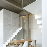Simple Minimalist Loft Design In White Light Wood Dining Table Scandinavian Style Dining Chairs In White