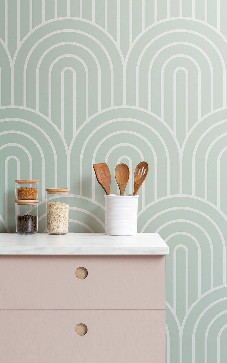 stick wallpaper for kitchen wall