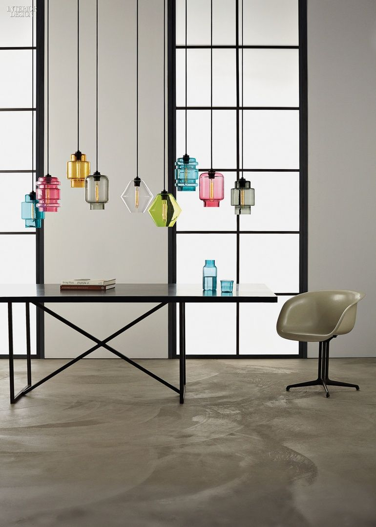 amazingly colorful pendants made of crystal like glass material