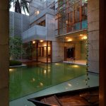 Awesome Swimming Pool scheme For Trendy House With Glasses Ceiling Pool also Small Backyard In The Nearby