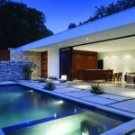 Fantastic Swimming Pool Plans As Well Lighting Thought In Ceiling Patio As Well Stoned Fence Pool