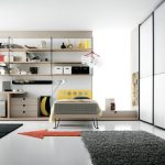 amazing White Bedroom Chair In Fashionable Style Bedroom Set On Nook That includes Computer Desk Also Grey Rug On Ground Also Elegant Cabinet Cabinets On The Wall
