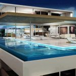 awesome Swimming Pool model On panthouse As Properly cozy Couch In patio Along With Open Plan Dwelling Room House Decor
