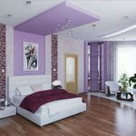 awesome Teen Bedroom Adorning Concepts With Purple coloured Cantilever plus Brown wooden Laminate Flooring Including White Floral pattern Curtain Cowl Glasses square Window Beside Dwelling Area Bed room plus Plantations In Nearby