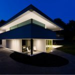 minimalist home design with full lighting elegant outdoor garden outdoor garden with two elegan white chair