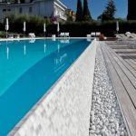Amazing Swimming Pool concept Dazzling In Stylish House design plus Sleeper Chair On Wood Ground