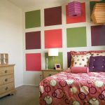Beautiful Pink Coloration Bedding also Picket Dresser With Mirror Colourful Wall design In Girls Bedroom Ideas