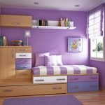 Cute Children Bed room Design Ideas With Wood Interior Furniture Sensible Wonderful Inside Painting Purple Colour Theme