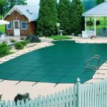 Elegant decorations With Swimming Pool concept Idea Covers Which Has White Nice Deck In The Near alsolarge Gardening Ideas