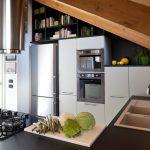 Trendy Fashionable Kitchen concept In Small Area White Cupboard Kitchen also Granite Countertop Backsplash As Properly E book Cabinets Above Refrigerator
