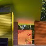 Trendy Home Facade Design With Green Shade Concepts Open Space House