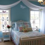 amazing blue wall bedroom stained comfy girl bed double bedroom desk