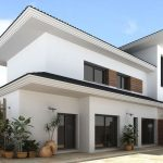 beautiful Inexperienced Vegetation Exterior Ornament Minimalist double Story House Design Facade