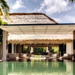 beautiful hotel in maldive with exotic swimming pool idea also interesting square pergola with cozy lounge chairs surrounded by green view