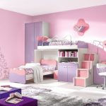 cute Purple Furnishings Coloration Large Glasses Wall Pink Shade Pastel Girls Bed room
