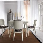 elegant Candle On The Prime Table Also Glasses Cabinets In The Close by White Curtain Glasses Window Rustic Brown Eating Room Rug Ornament Under White Eating Desk Set