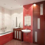 elegant Floating Sink Door Gorgeous Small Bathroom Concepts With Lighting In Ceiling Including Bathtub Beside Picket Self-importance Additionally Brown Tile Floor