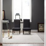 elegant Gray Portray Wall Additionally White Picket Glasses Window Frame lovely Great Chair In Living Room Design Interior With Classic Carpet On Wooden Flooring