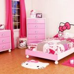 Elegant Pink Curtain Plus Carpet Also Hello Kitty Bedding Pink Colour Women Bed Room Hello Kitty Themes