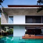 elegant Wood patio Subsequent To The Swimming Pool Stylish Trendy Home Design