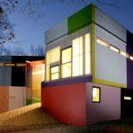 elegant home exterior minimalist colourful exterior
