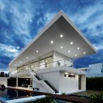 elegant landscape design with amazing home decorations glasses minimalist wall outdoor stairs minimalist swimming pool