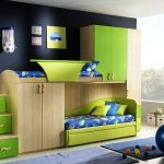 enchanting teenage boys room with magnificent green bunk bed also build in closet with cute stairs as storage feat sexy black wall painting in glossy laminate flooring