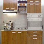fantastic Led Lighting Above Range As Well Steel Stainless The Top Backsplash Trendy Small Kitchen Design Ideas With Brown Cabinet