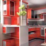 fantastic purple laminated kitchen set Orange Cabinet Kitchen also Granite Countertop also Grey Tile Floor