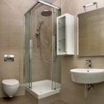 gorgeous light brown walling design interesting washbasin captivating wall mount bide elegant small glass shower