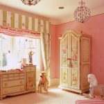 gorogeus classic pink room style with amazing fairytale ispired cabinet and wonderful pendant lamp also wonderful stripe wall decor in white large carpet flooring