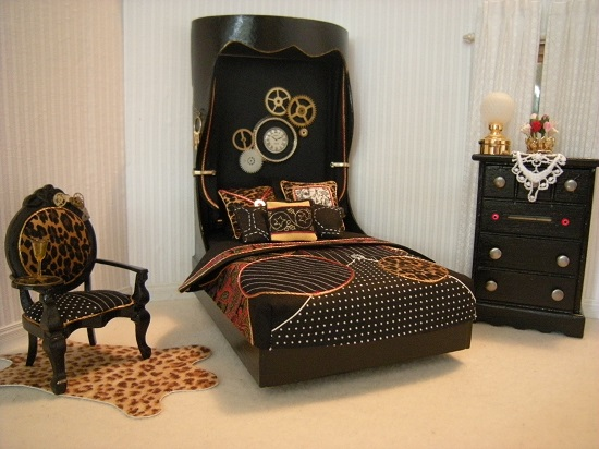 Exceptional or maybe creepy steampunk bedroom ideas for Steampunk home ideas