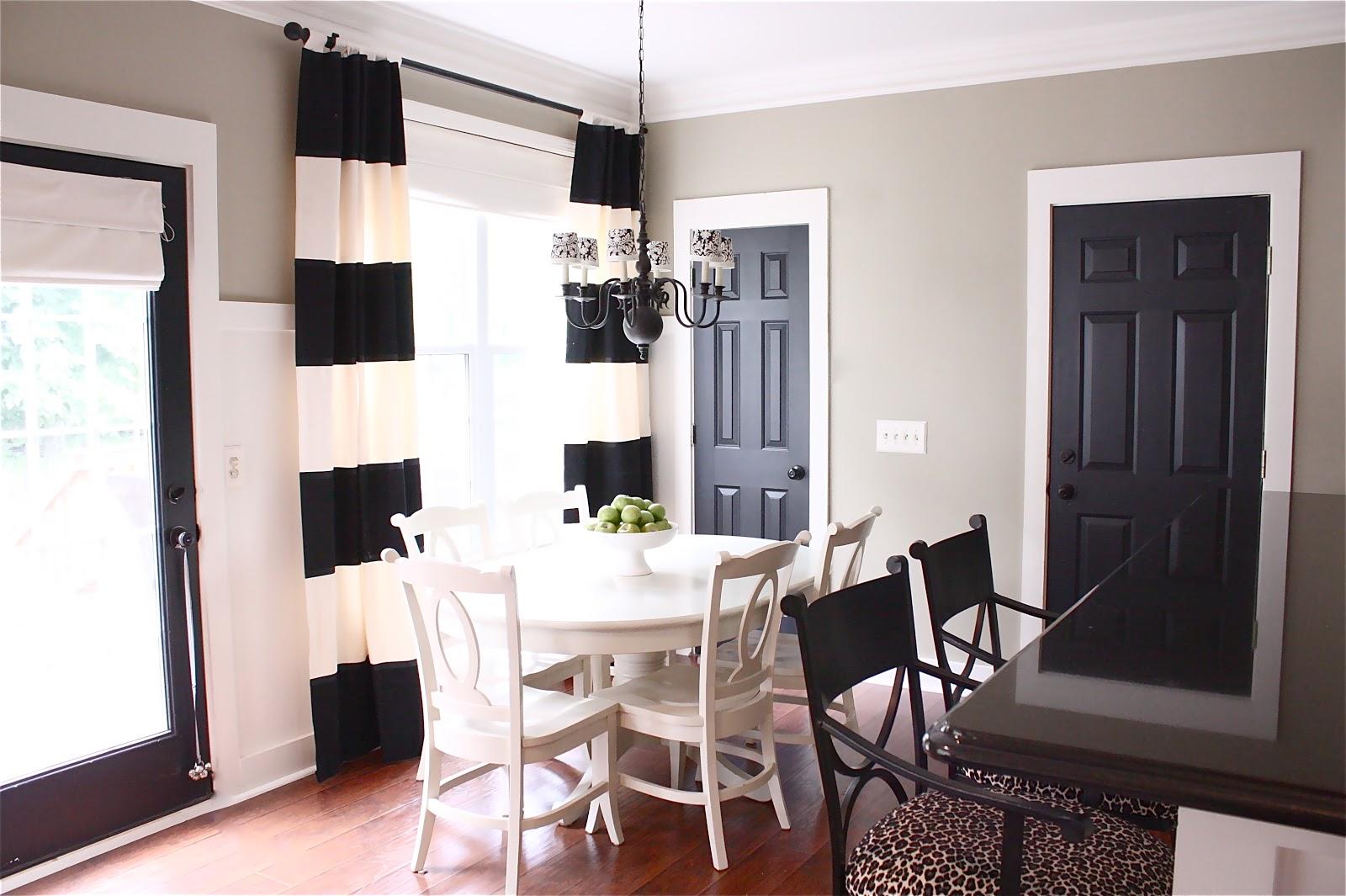 Doors Design: Black Painted Interior Doors? Why Not?