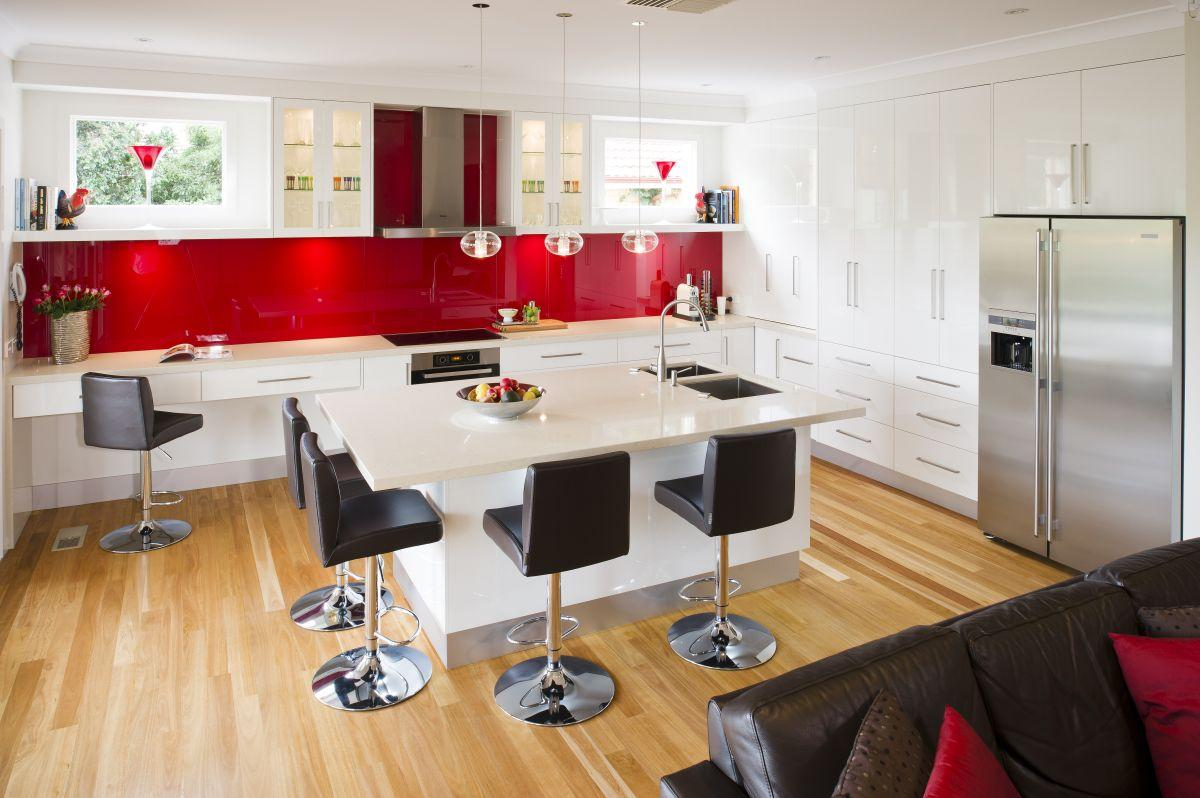 Red And Black Kitchen Cabinets - Home Design Ideas