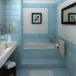 lovely Bathtub Also White Sink Attractive Small Rest room Concepts Blue Tile Wall design Including Body On The Wall