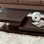 lovely Furry Rug Additionally Brown Floral Couch Inventive Residing Room Darkish Wood Desk Set Design