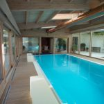 lovely Glasses Wall Ideas And Wood Ground Inside Beautiful Indoor Swimming Pool decoration In Classy Home Decor