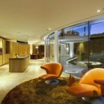 lovely Interior Room Design elegant Inside Lighting Desig With The Orange Chairs Interior Furnishings