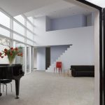 Luxury Piano In Dwelling Room Glasses Wall Home Library Design Of The Dwelling Room