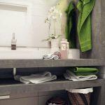 minimalist Small Loos With Giant Mirror Bathroom Elegant Adorning Flower In Vase Concepts Fancy Adorning Small bathroom Design Ideas