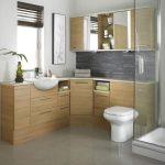 wonderful small bathroom design with elegant large trasparent glass shower magnificent chest of drawer gorgeous glossy tile flooring elegant white walling design