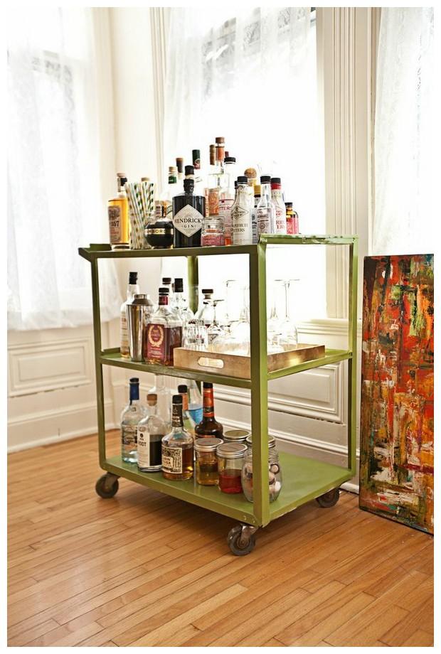 Bar Cart From Metal Green Ikea