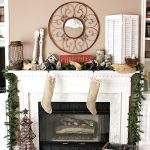 Christmas decoration for mantels with artistic round  ornamental mirror nature-theme  Christmas decorative items