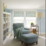Small Reading Room Simple Reading Room Reading Corner At Home Blue Single Reading Chair Blue Reading Chair Luxurious Blue Reading Chair Elegant Blue Reading Chair Simple Classic Standing Lamp Reading Room In Blue Theme Reading Room I