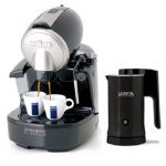 Unique automatic coffe maker with two direct water lines black jug of coffee